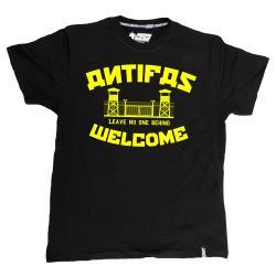 Antifas Welcome schwarz TS